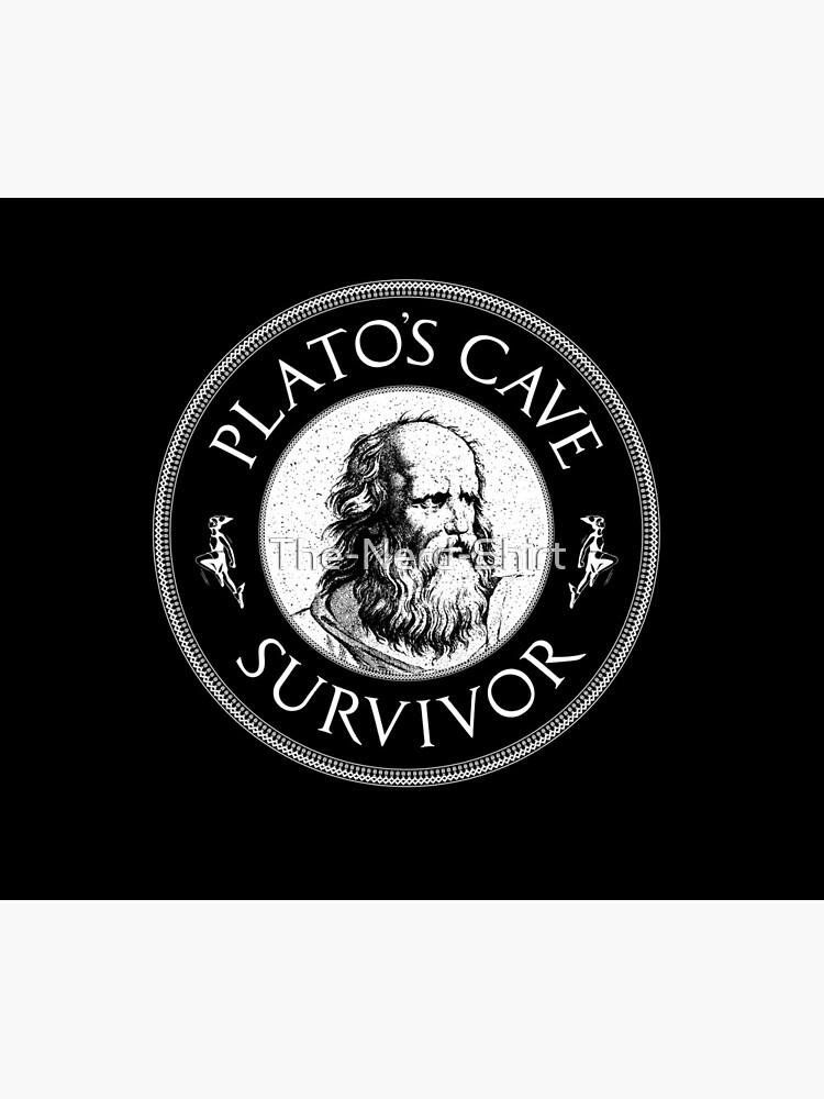 Plato's Cave Survivor - Philosophy Gift by The-Nerd-Shirt