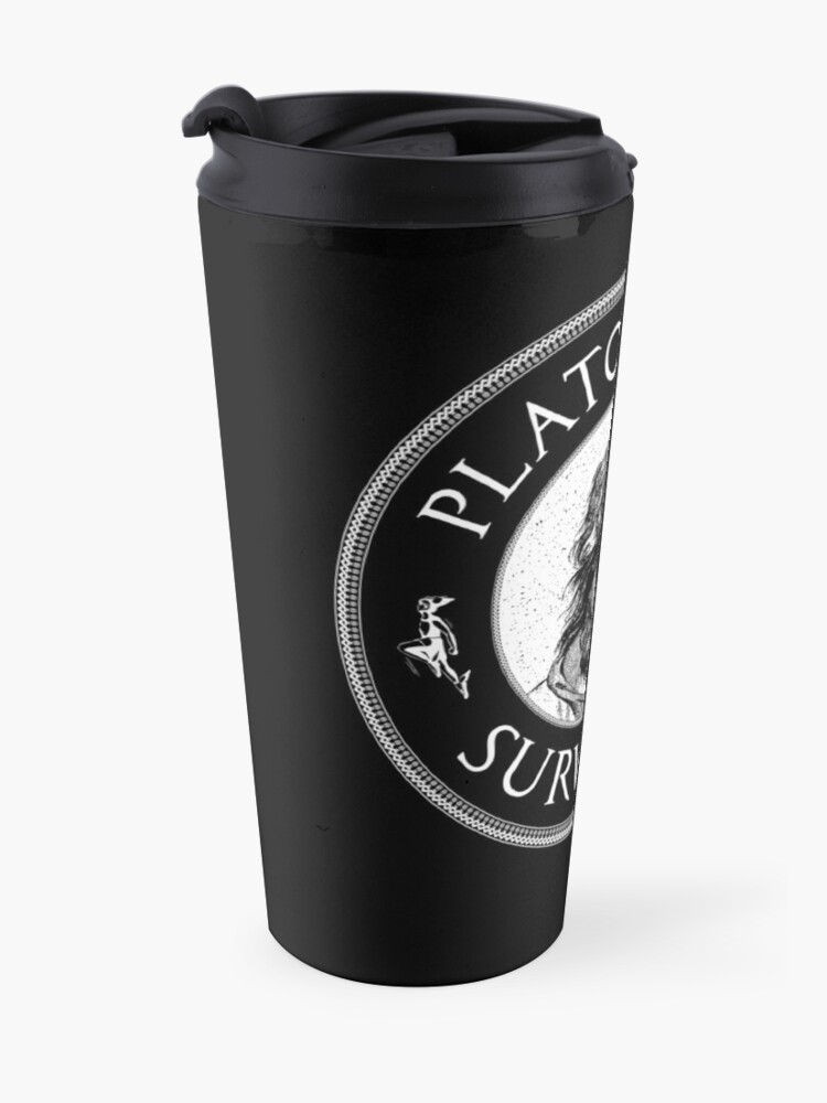 Alternate view of Plato's Cave Survivor - Philosophy Gift Travel Mug