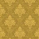 «Textura y patrón de color verde y amarillo del suelo» de designersara