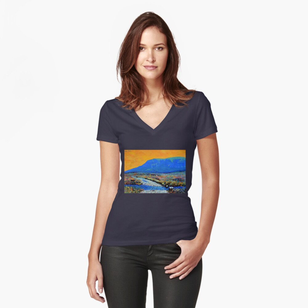 Ford at Muckish (County Donegal, Ireland) Fitted V-Neck T-Shirt