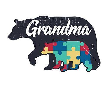 Grandma Bear - Autism Awareness Design by dk80