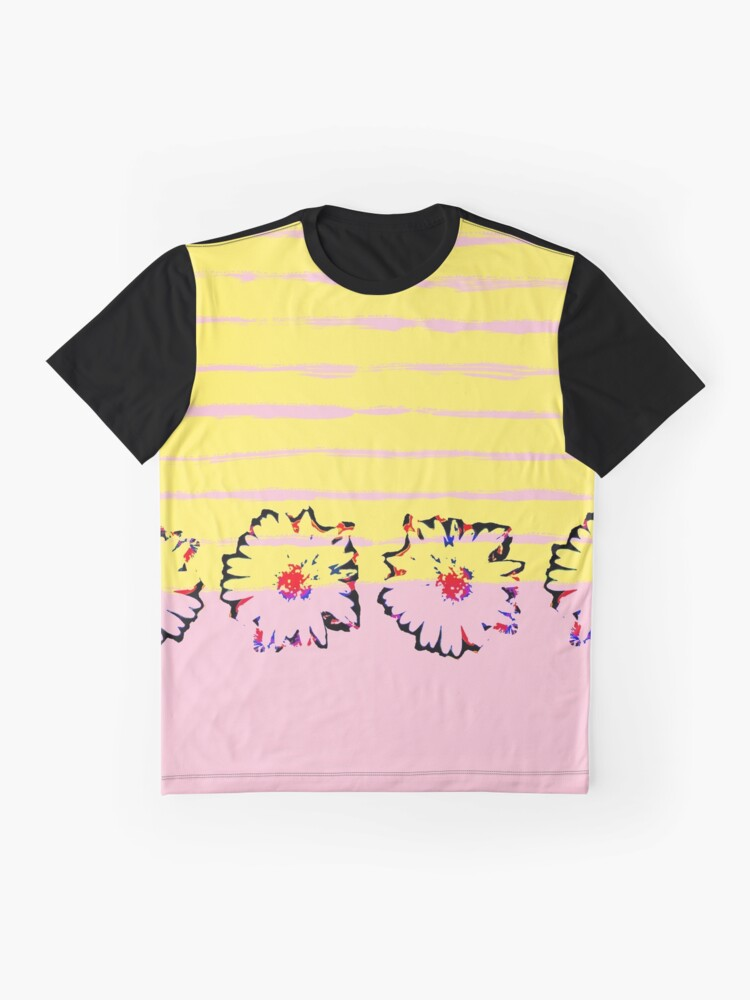 Alternative Ansicht von Streifen und transparente Frühling Blumen Grafik T-Shirt