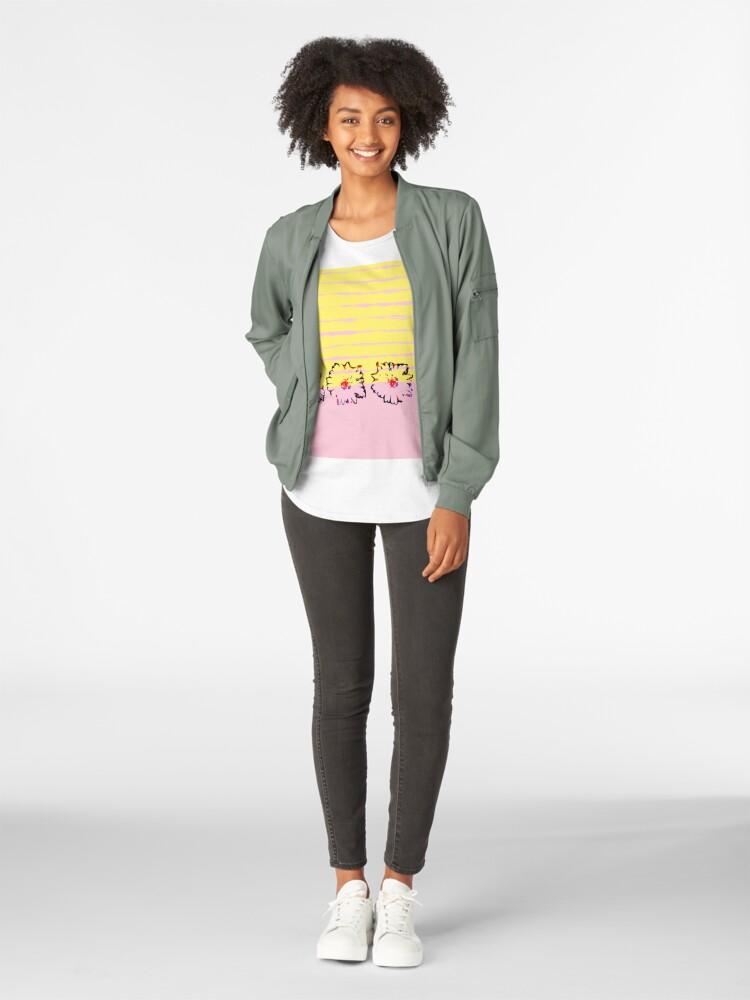 Alternative Ansicht von Streifen und transparente Frühling Blumen Frauen Premium T-Shirt