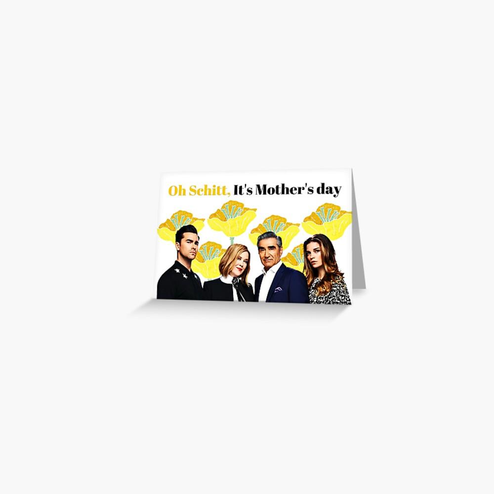 Oh Schitt, es ist Muttertag, glückliche Muttertagskarte, lustige Grußkarte, Aufkleber, Becher, Geschenke der Mutter Tages, Schitts Creek-Mutter-Tageskarte Grußkarte