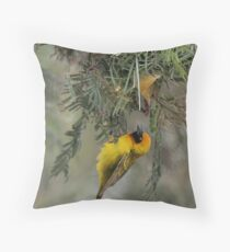 """Speke's Weaver 3 - 'What do you think of it so far?"""" Throw Pillow"""
