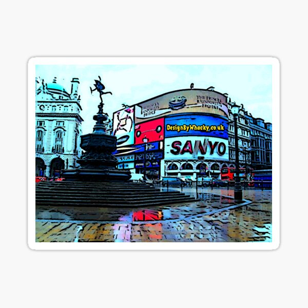 Picadilly Circus Sticker