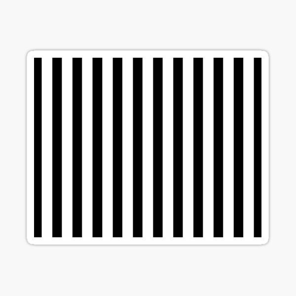 Black and White Stripes Sticker