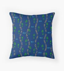 Positive Running Vibes - blue background Throw Pillow