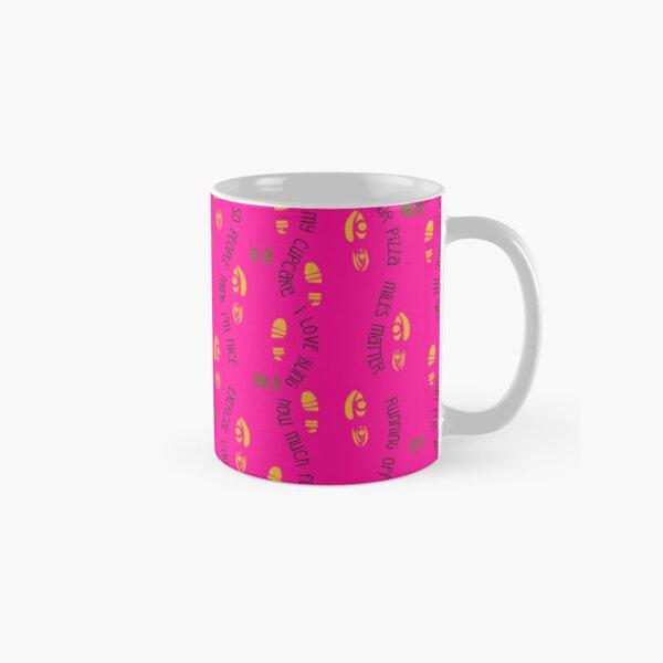 Positive Running Vibes - pink background Classic Mug
