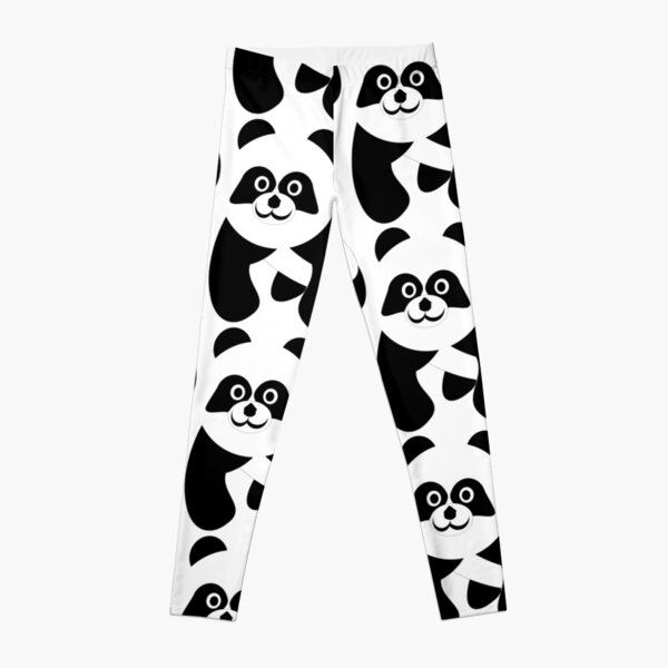 Black And White Panda Bear Leggings