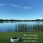 Blue Is Longing - Image and Poem by KnutsonKr8tions