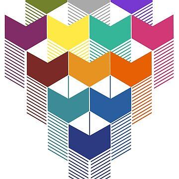 Cuadrados de colores geométricos de clingcling