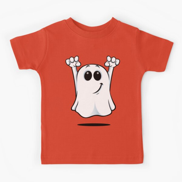 Cartoon Ghost - With A Cheeky Grin. Kids T-Shirt