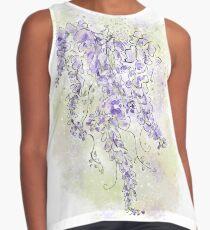 Purple Wisteria Flowers Floral Design Sleeveless Top