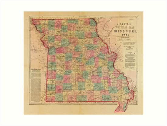 Lloyd's Offical Map of Missouri (1861) by allhistory