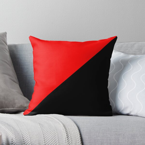 Anarcho Communism Movement Flag Throw Pillow
