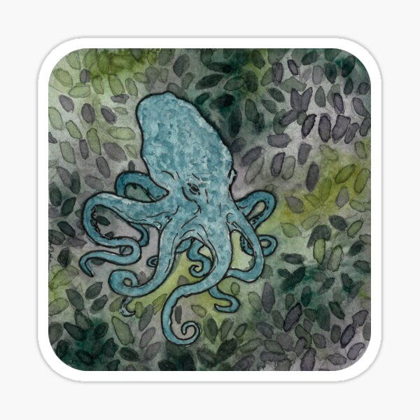 Octopus - watercolour painting Sticker