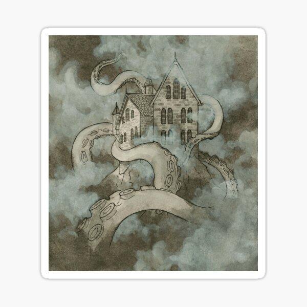 Fantasy castle illustration Sticker