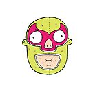 Cartoon Mexican Wrestler Head by JustNukeIt