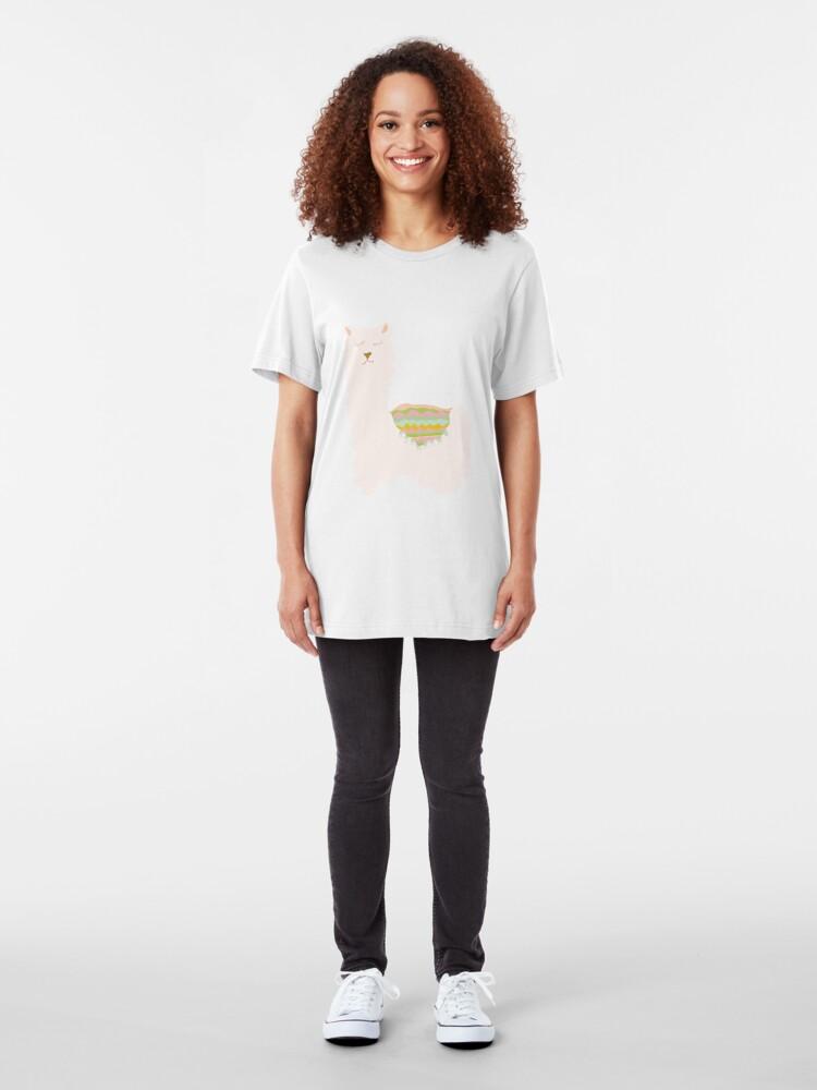 Alternate view of Western Llamas Slim Fit T-Shirt