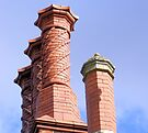 Hodsock Priory Chimneys by Audrey Clarke