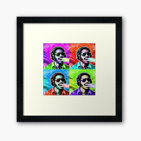 STEVIE WONDER! Framed Art Print