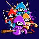 Teenage splatter ninja squids. by J.C. Maziu