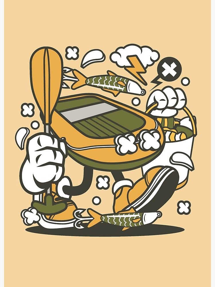 Fishing Boat 80s Cartoon Character Funny T Shirt A Perfect Gift