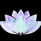 Meditation in lotus flower. Meditate, feel your connection with the universe by ColorsHappiness