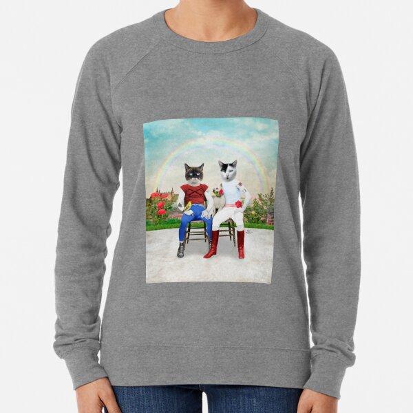 Francisco et Orlando - Le couple de chats gay et leurs animaux de compagnie Sweatshirt léger
