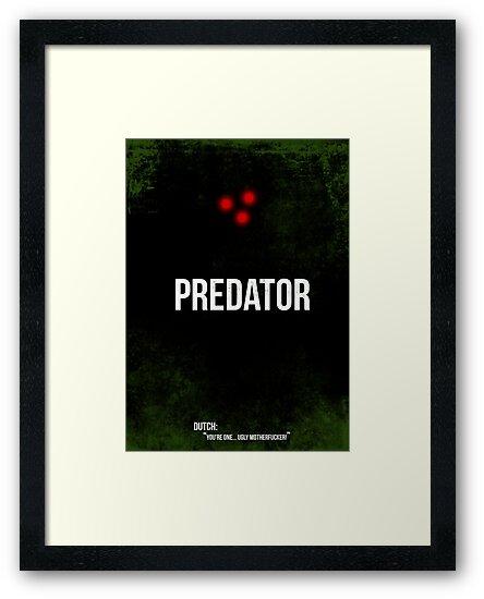 Predator - minimal movie poster by HDMI2K