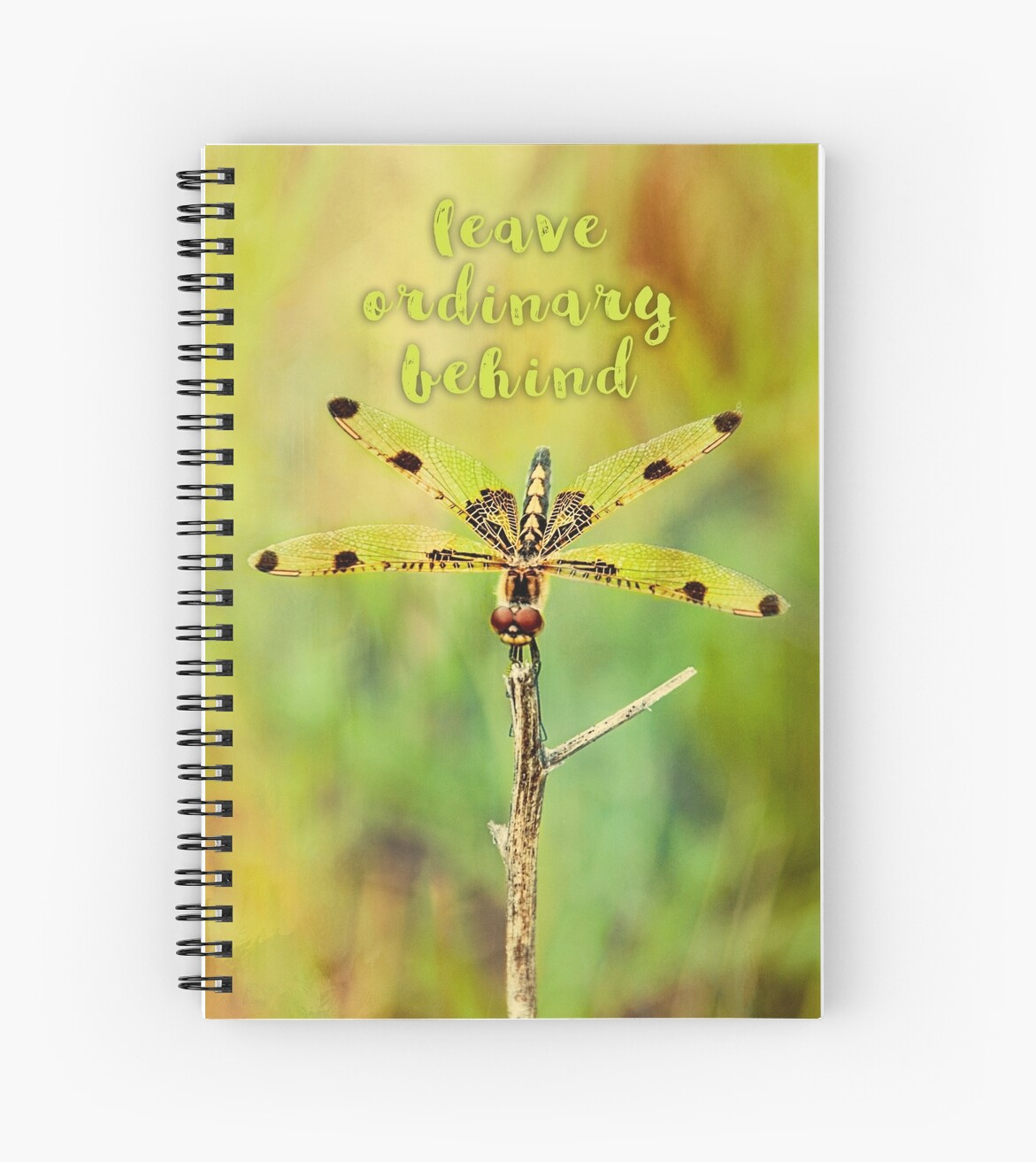 Dragonfly Leave Ordinary Behind Quote  by ginkelmier