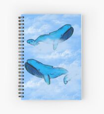 Sky Whales Spiral Notebook