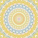 Pastellkiesel-Mandala von Kelly Dietrich