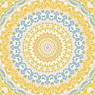 Pastel Pebbles Mandala by Kelly Dietrich