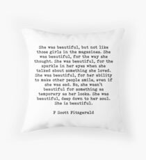 Sie war schön f Scott Fitzgerald Zitat Dekokissen