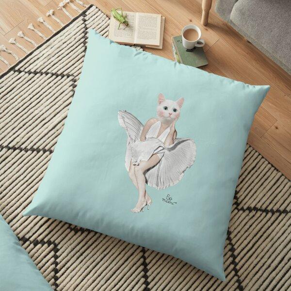 Meowilyn Monroe - une chatte en hommage à Marilyn Monroe Coussin de sol