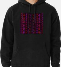 Neon Insect Stripes 2  Pullover Hoodie