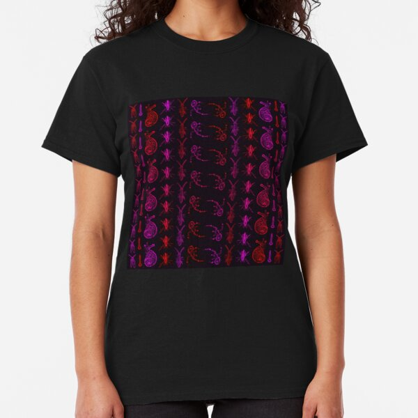Neon Insect Stripes 2  Classic T-Shirt