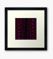 Neon Insect Stripes 2  Framed Print