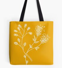Floral Illustration - March Flower Blooms - MyDoodlesAteMe Tote Bag