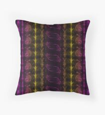 Neon Insect Stripes 3 Throw Pillow