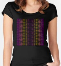 Neon Insect Stripes 3 Fitted Scoop T-Shirt