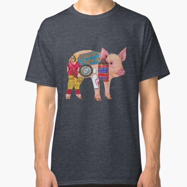 Pig - Original Art by bowlingART Classic T-Shirt