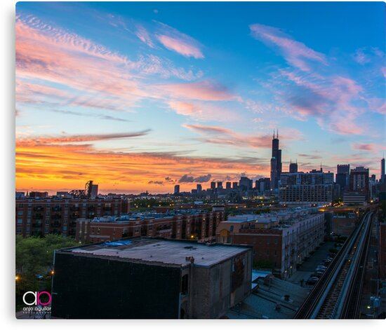 Chicago skyline view from the south by anjoaguilar