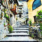 Stairway in the historic center by Giuseppe Cocco
