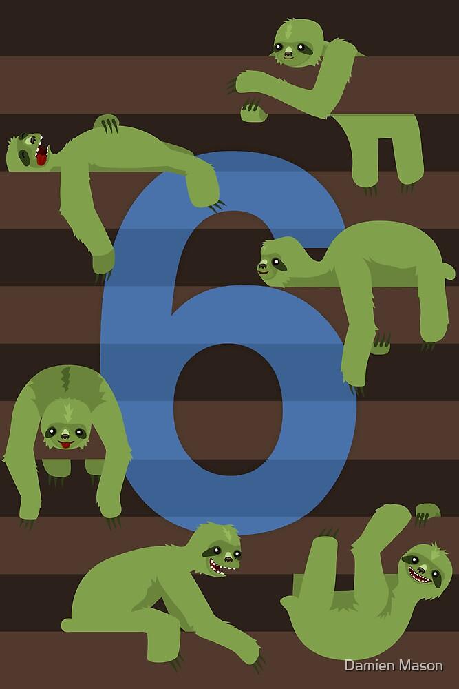Six Slovenly Sloths by Damien Mason