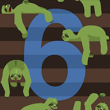 Six Slovenly Sloths by damienmason