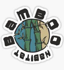 Pegatina Bambus Lebensraum Natur Geschenk camiseta schwarz