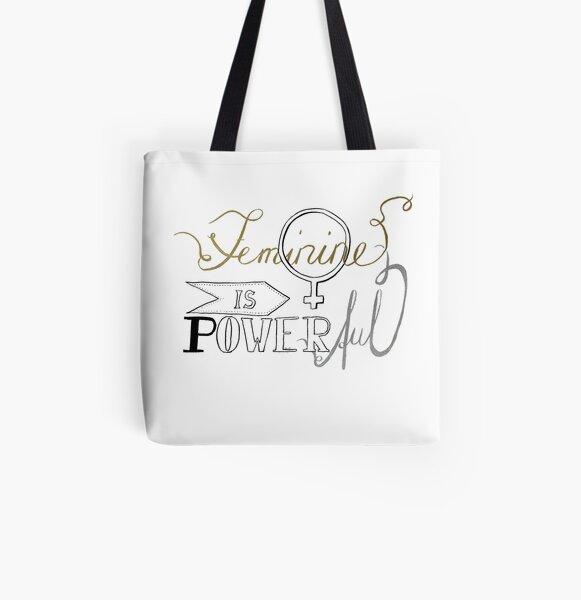 Weiblich ist stark Allover-Print Tote Bag